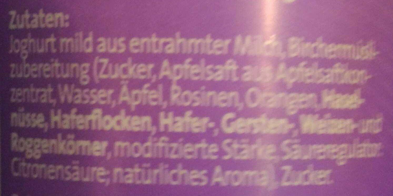 Der Grosse Bauer Birchermüsli - Ingrediënten - de
