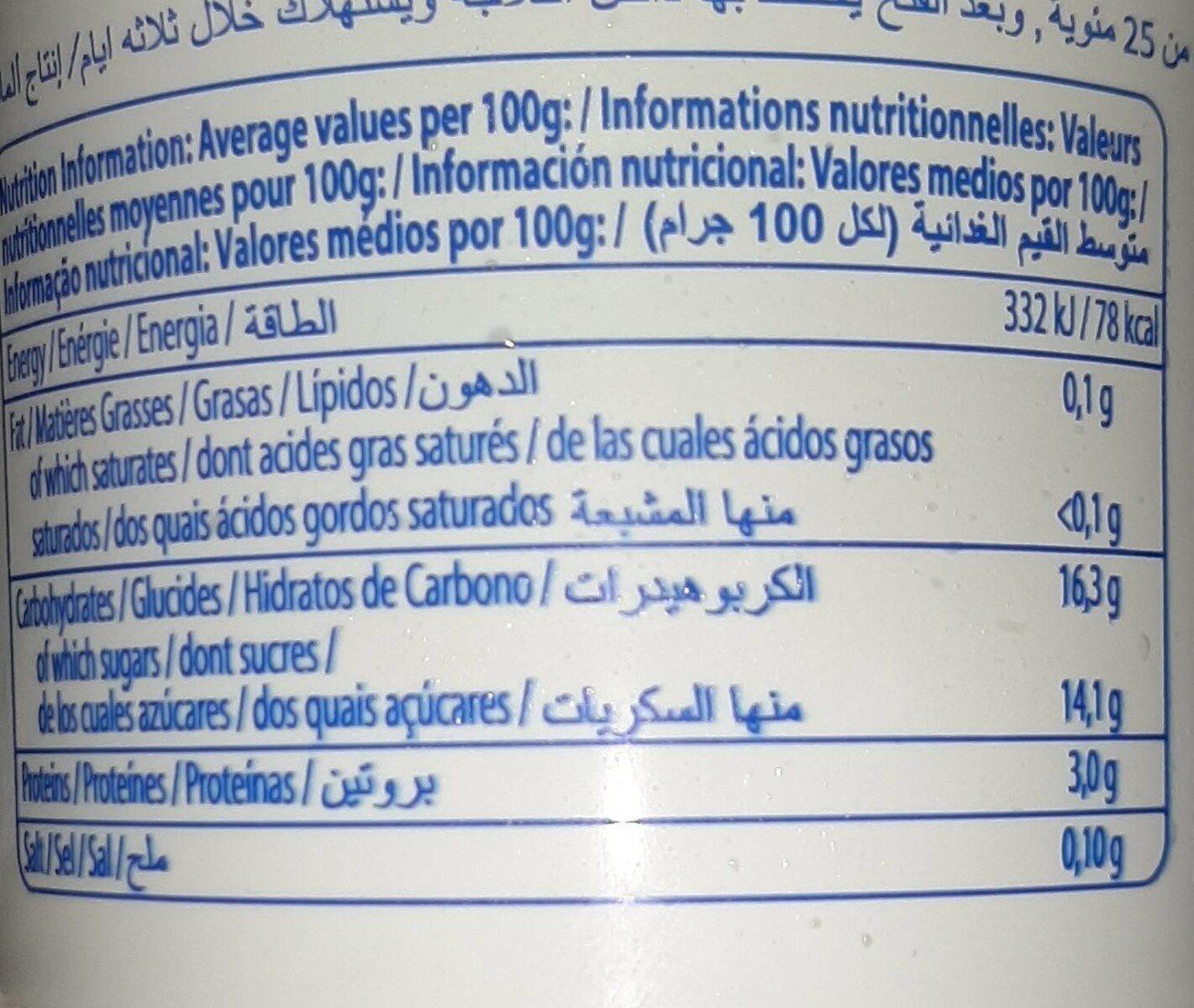 FRUFRU - Informations nutritionnelles - fr