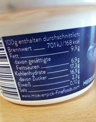 Mövenpick Feinjoghurt, Heidelbeere Cassis - Informations nutritionnelles - de