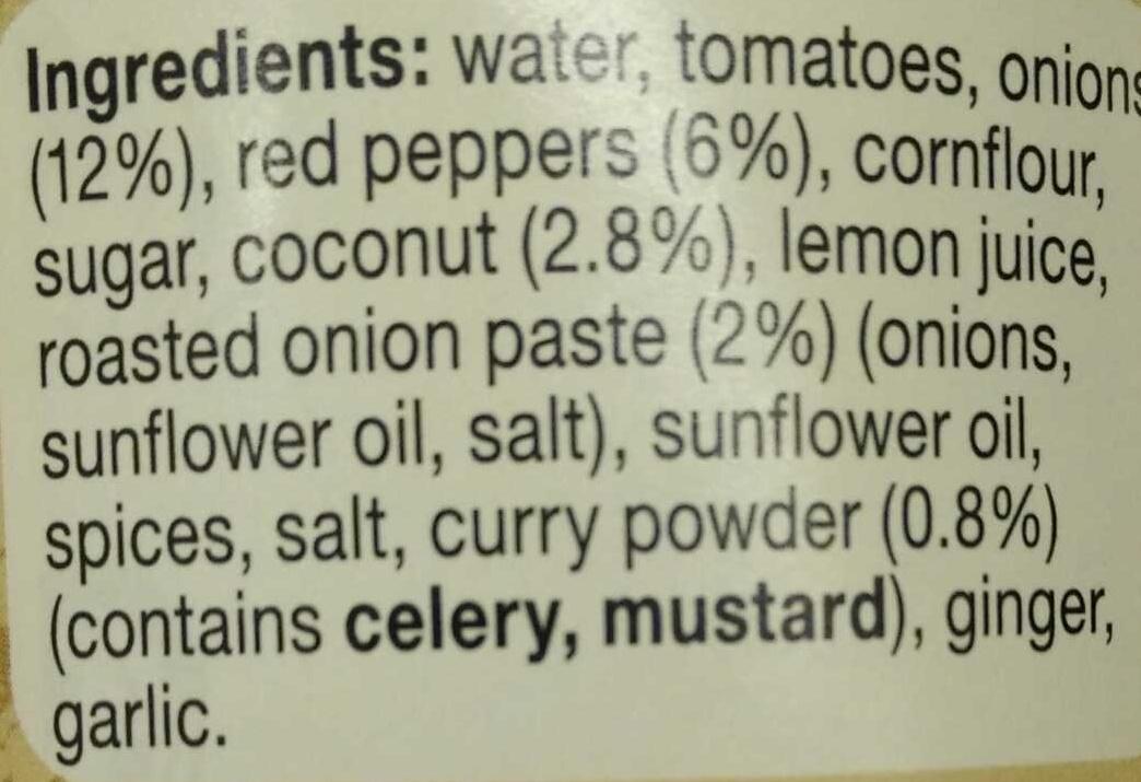 Medium curry sauce - Ingredients - en