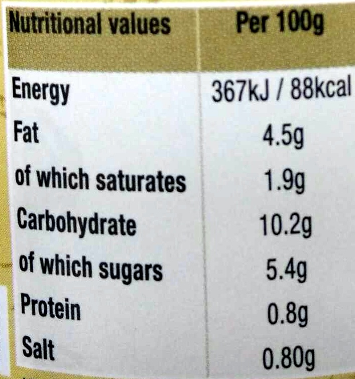 Medium curry sauce - Nutrition facts - en