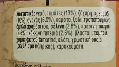 Uncle Bens Γλυκόξινη Σάλτσα 450g - Συστατικά