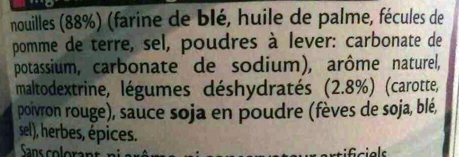 Nouilles saveur poulet coco - Ingrédients - fr