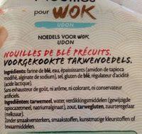 Nouilles wok - Ingrediënten - fr
