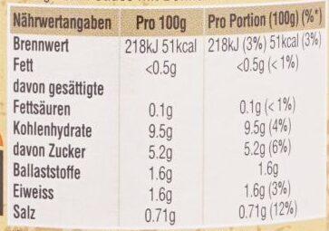 Uncle Ben's Sauce für Chili con Carne - Informations nutritionnelles - de