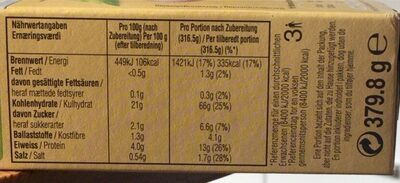 Mirácoli - Nutrition facts - de