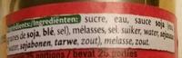 Sauce soja sucrée - Ingrédients