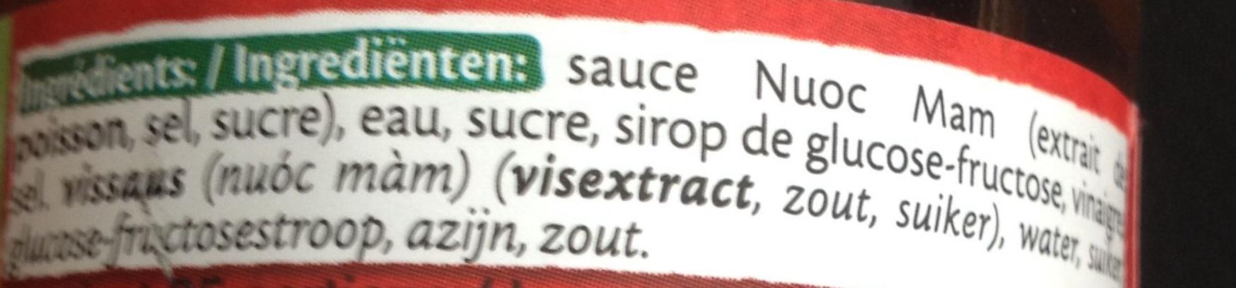 Sauce pour nems - Ingrediënten