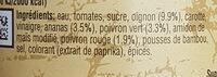 Sauce aigre-douce Uncle Ben's 400 g - Ingrédients - fr
