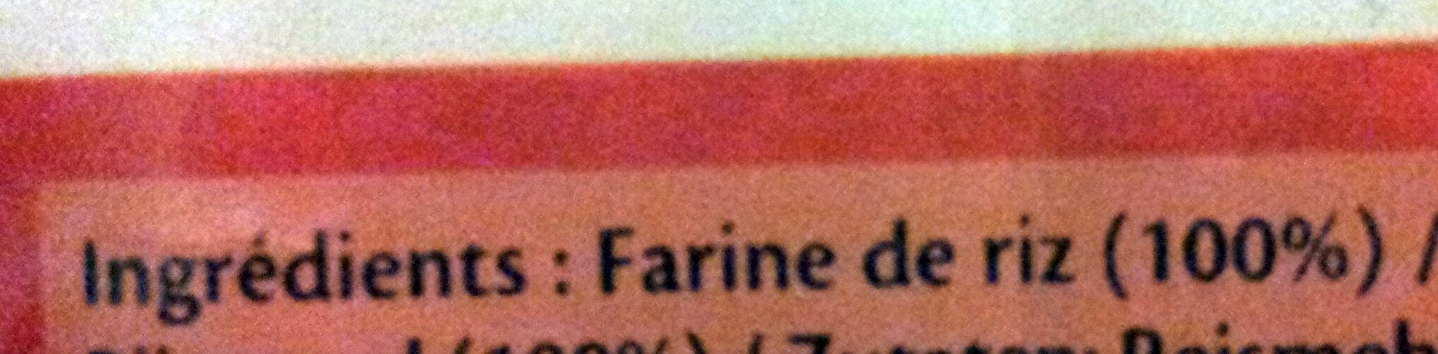 Vermicelles de riz - Ingrédients - fr
