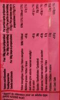 Vermicelles de riz - Informations nutritionnelles - fr