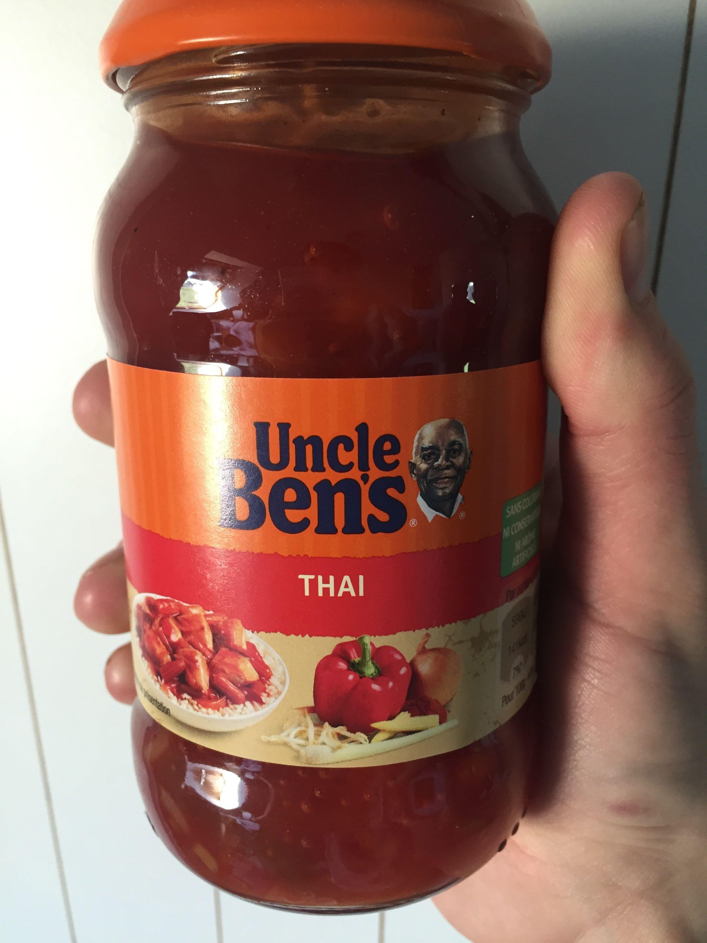 Bocal 400G Sauce Thai Legumes Croquants Uncle Bens - Product - fr