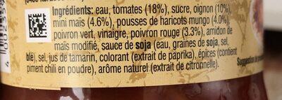 Bocal 400G Sauce Thai Legumes Croquants Uncle Bens - Ingredients - fr