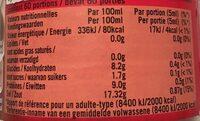 Sauce soja  Suzi Wan 300 ml - Informations nutritionnelles - fr