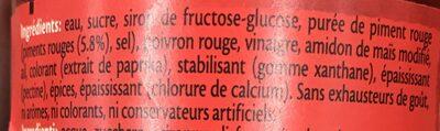 Sauce aigre-douce pimentée - Ingrédients