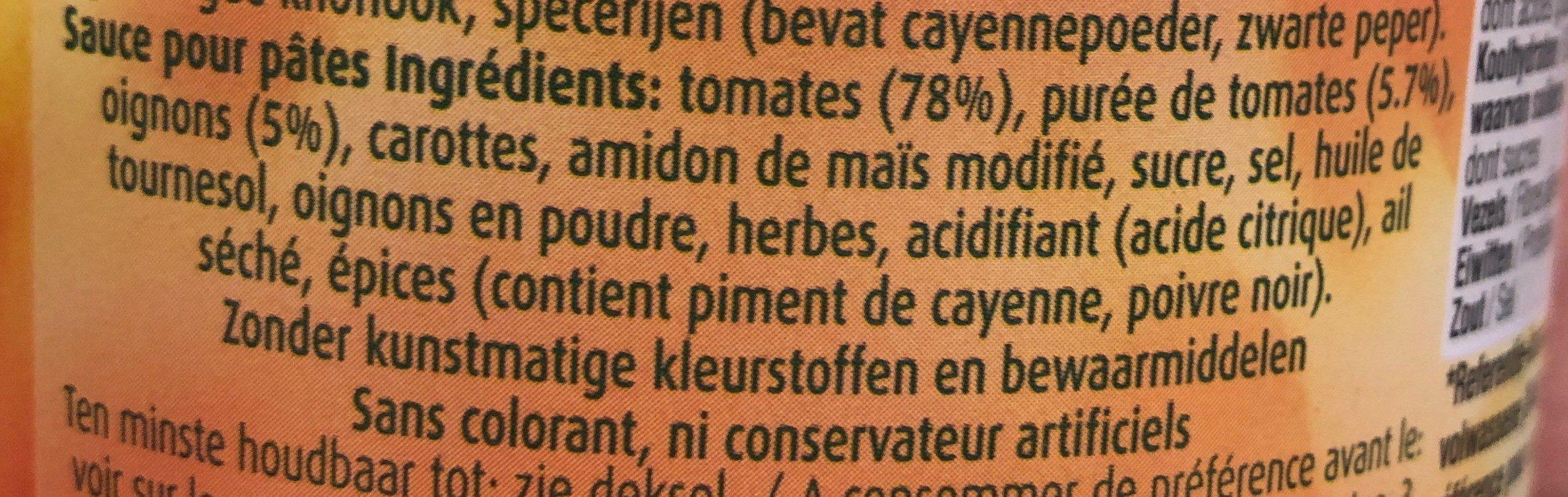 Sauce pour pâtes piccante - Ingrédients - fr