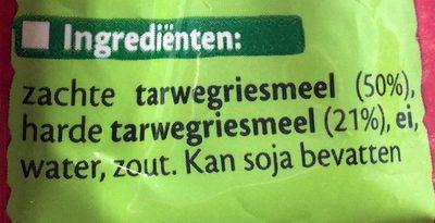Nouilles aux œufs - Ingrediënten - nl