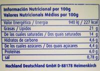 Cremette Frischkäsezubereitung Mit Sahne - Informations nutritionnelles - fr