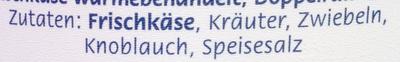 Almette Kräuter - Ingredients - de