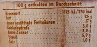 Almette Kräuter - Nutrition facts - de