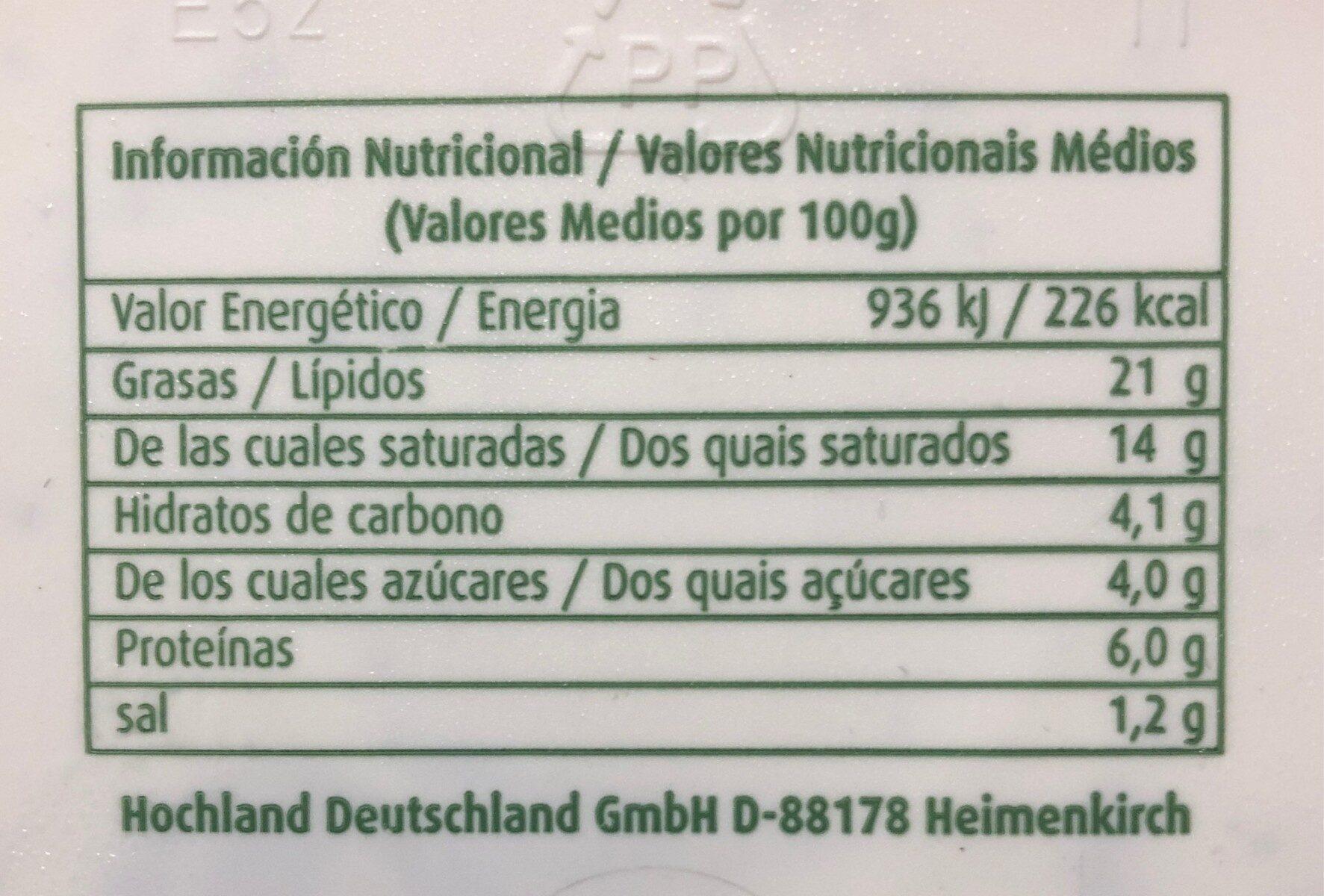 Cremette Frischkäsezubereitung Mit Kräutern - Informations nutritionnelles - fr
