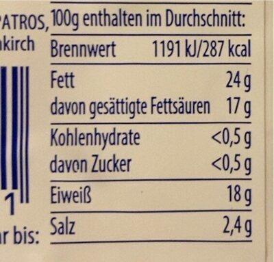 Feta aus griechischer Schafsmilch - Nährwertangaben - de