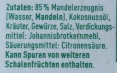 Veganer Streichgenuss Kräuter - Ingrédients
