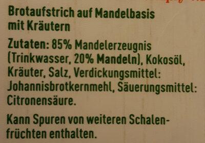 Gartenkräuter Streichgenuss - Ingredienti - de