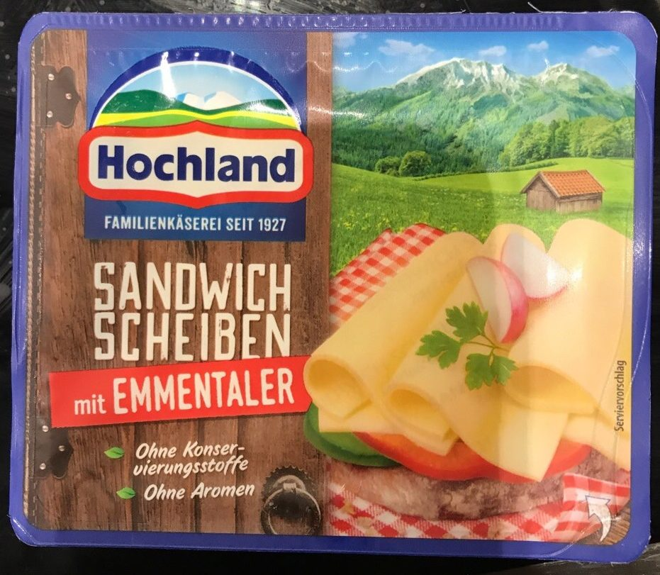 Sandwich scheiben emmentaler - Produit - de