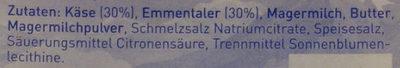 Sandwich Scheiben Emmentaler (Hochland) - Inhaltsstoffe