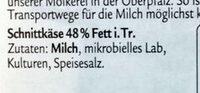 Grünländer MILD & NUSSIG, Der Klassiker - Ingredients