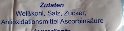 Sauerkraut Neusser Art - Ingredients