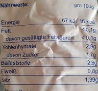Sauerkraut Neusser Art - Nutrition facts