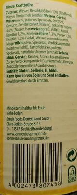 Rinder Kraftbrühe - Ingrediënten
