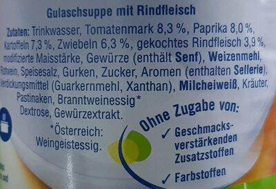 Ungarische Gulaschsuppe - Ingredients - de
