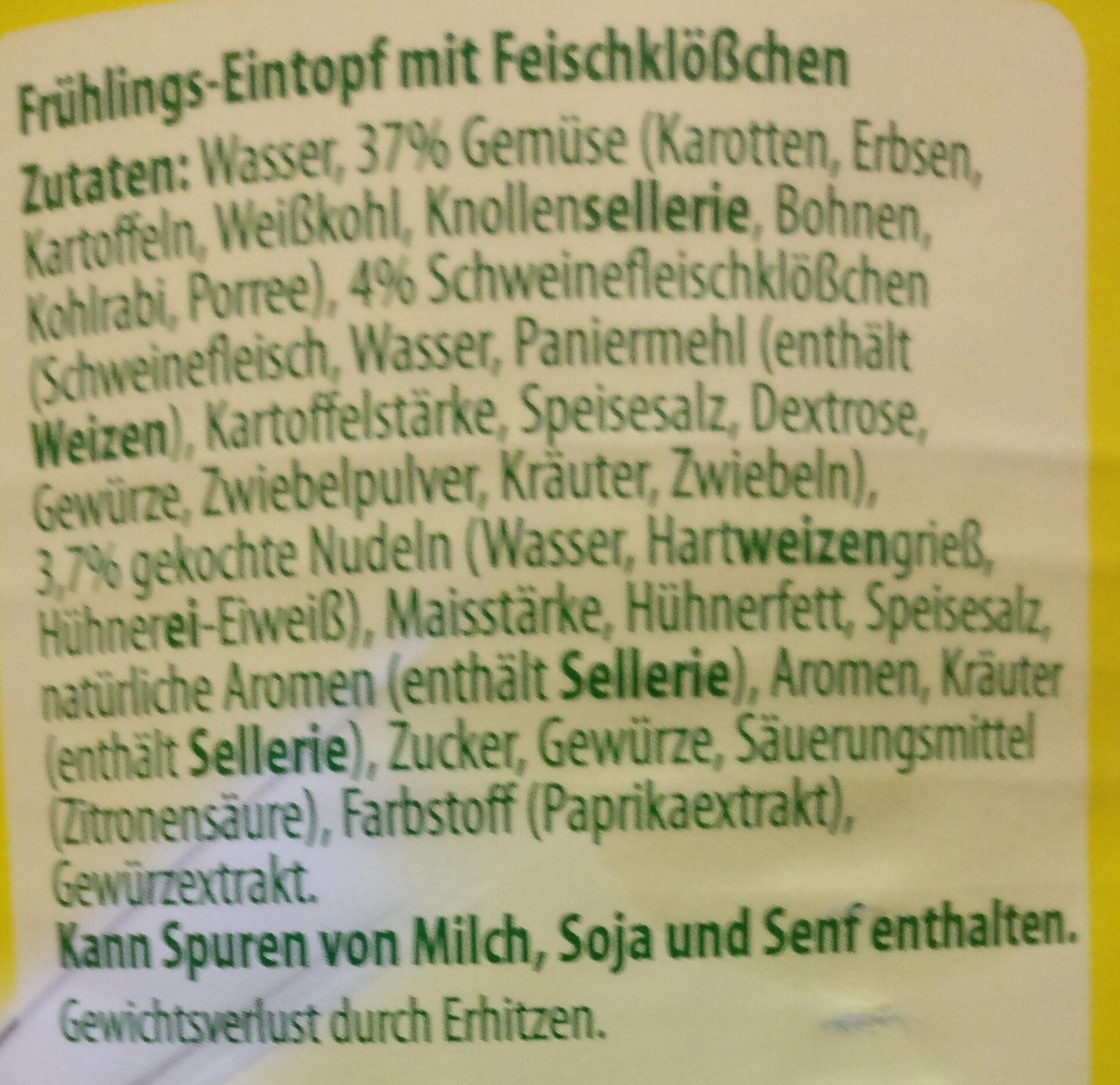 Frühlings-Eintopf - Ingrédients - de