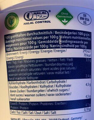 Yogurdu - ömür - 1 KG - Voedingswaarden - de