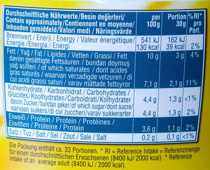 Sahnejoghurt 10% Fett, ohne Gelatine - Voedingswaarden - de