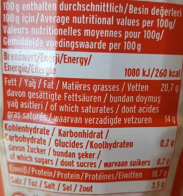 Fromage Tulum Gazi 400 GR X 8 Arev - Nutrition facts - fr