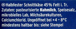 Grill- und Pfannenkäse Natur - Inhaltsstoffe - de