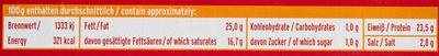 Grill- und Pfannenkäse Chili - Nährwertangaben - de