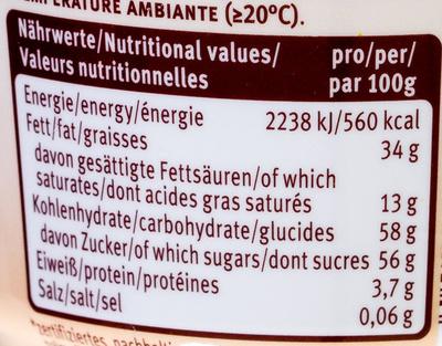 Belmandel - Nutrition facts - de