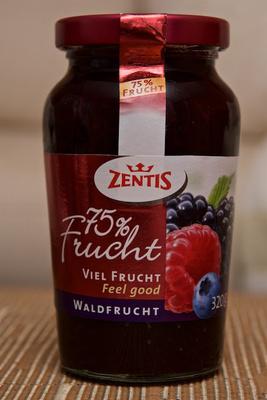75% Frucht Waldfrucht - Zentis - 320 g - Produit