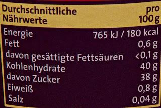 75% Frucht Waldfrucht - Zentis - 320 g - Informations nutritionnelles