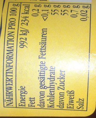 Konfitüre, Himbeeren - Ingrédients