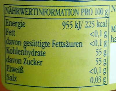 Quitten Gelee - Nutrition facts - de