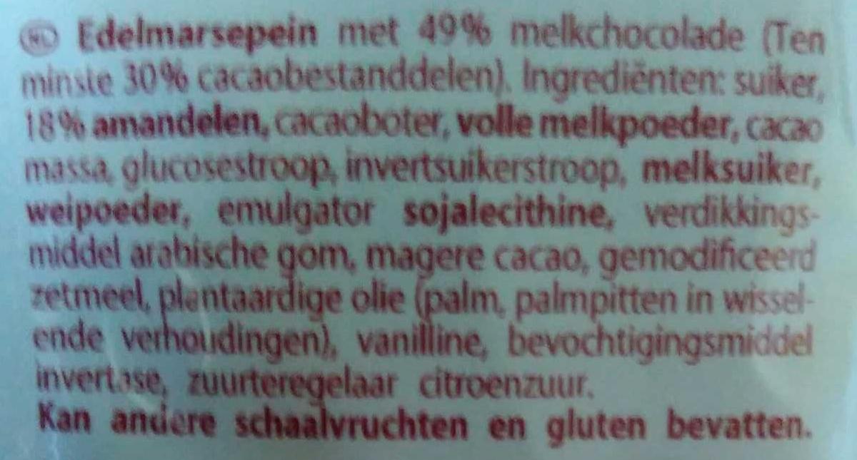Edel-Marzipanperlen - Inhaltsstoffe