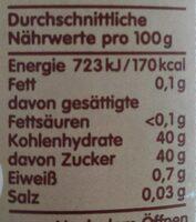 Zentis 75% Frucht Aprikose - Informations nutritionnelles - de