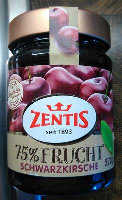 Zentis 75% Frucht Schwarzkirsche - Produit