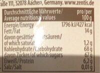 Marzipan Eier - Voedingswaarden - de
